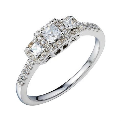 Jcpenney 12 CT Vintage Look Diamond Engagement Blue