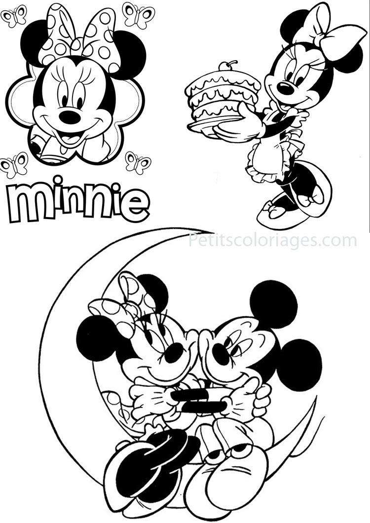 Coloriage minnie gratuit dessin a imprimer 99