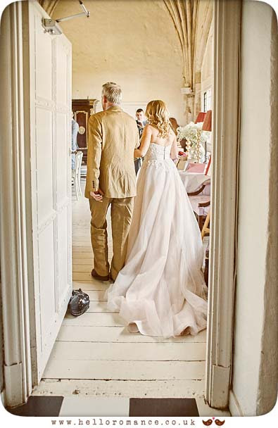 Bride with Father - www.helloromance.co.uk