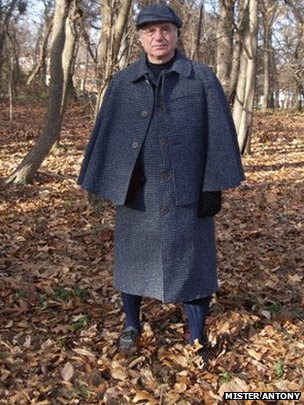 Mister Antony client wearing a Harris Tweed Inverness Cape