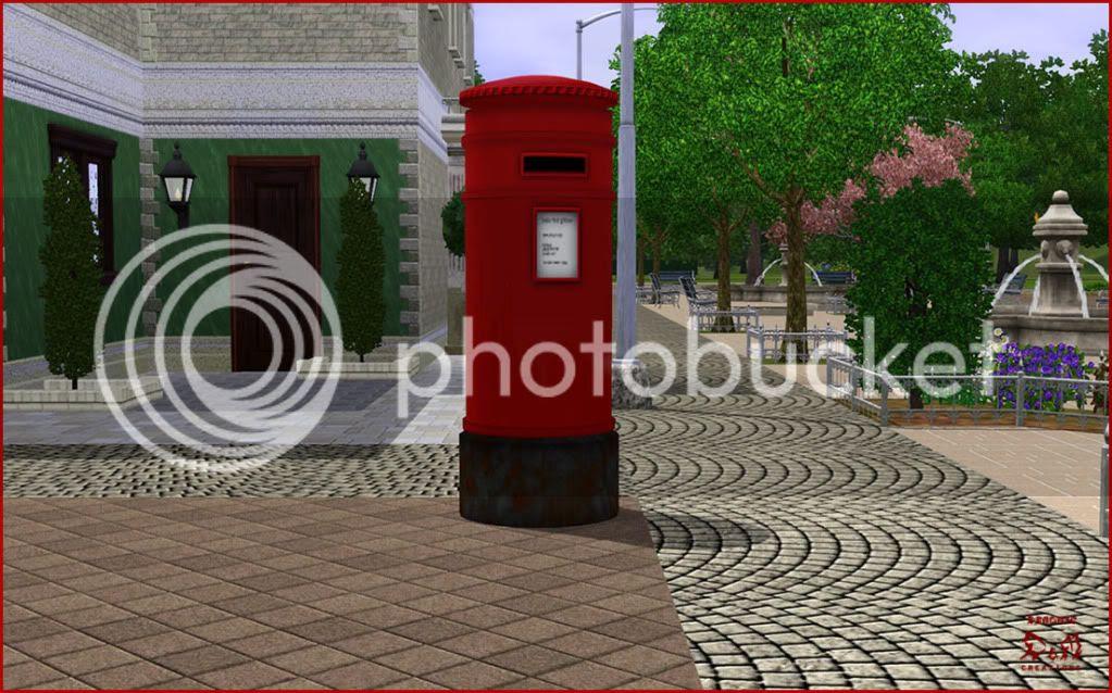 British Mailbox - Demonic. Sims 3