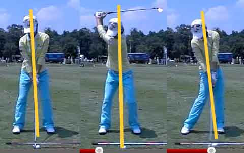 Na Yeon Choi in same swing positions