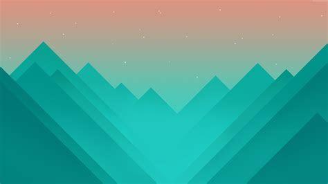 Wallpaper flat, polygons, 4k, 5k, mountains, iphone