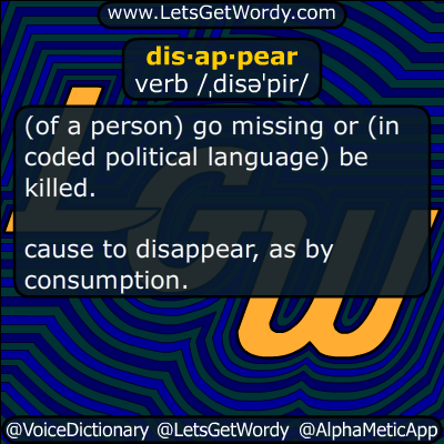 disappear 11/17/2015 GFX Definition
