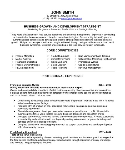 sample resume landscape business owner