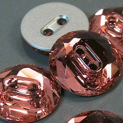 20730141001542 Swarovski Crystal Button - 12 mm 3014 Round - Padparadscha (1)