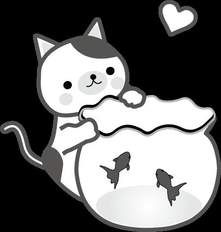 ねこのイラストかわいい子猫 無料イラストフリー素材