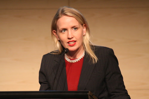 Queensland Minister for Climate Change, Kate Jones speaking at the Climate Leaders Summit organised by the Climate Group