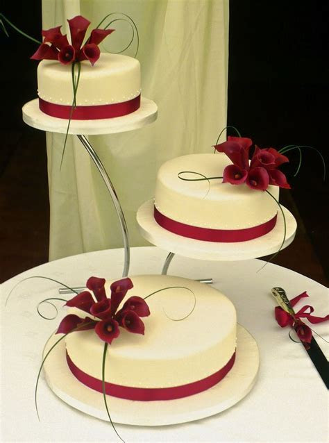 334 best images about Wedding Cakes   Red & White on
