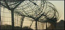Border fence between Botswana and Zimbabwe