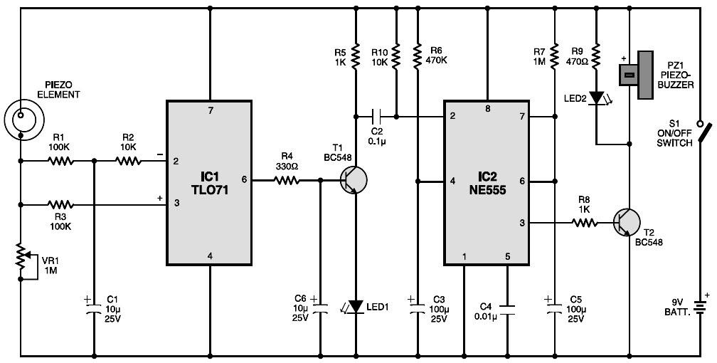 vibration sensor layout