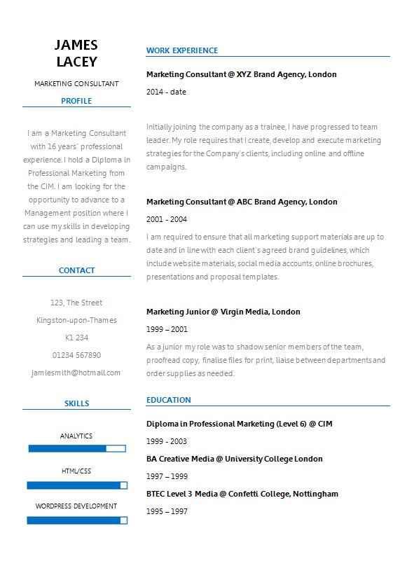 Fresh two column CV template  CV Template Master