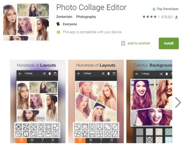 Photo Collage editor تطبيقات اندرويد مضرة