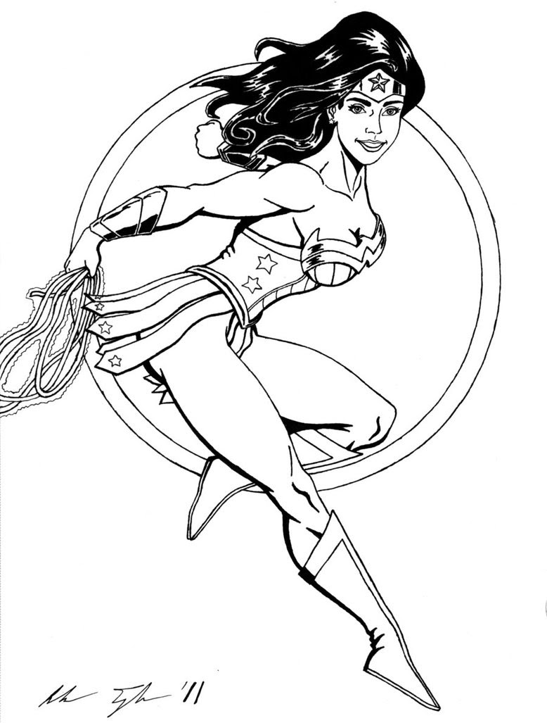 Realistic Printable Wonder Woman Coloring Pages Coloring And Drawing