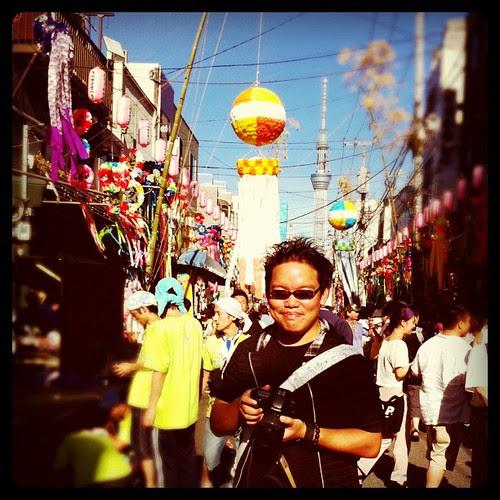 Me at the Tanabata Festival 七夕祭り