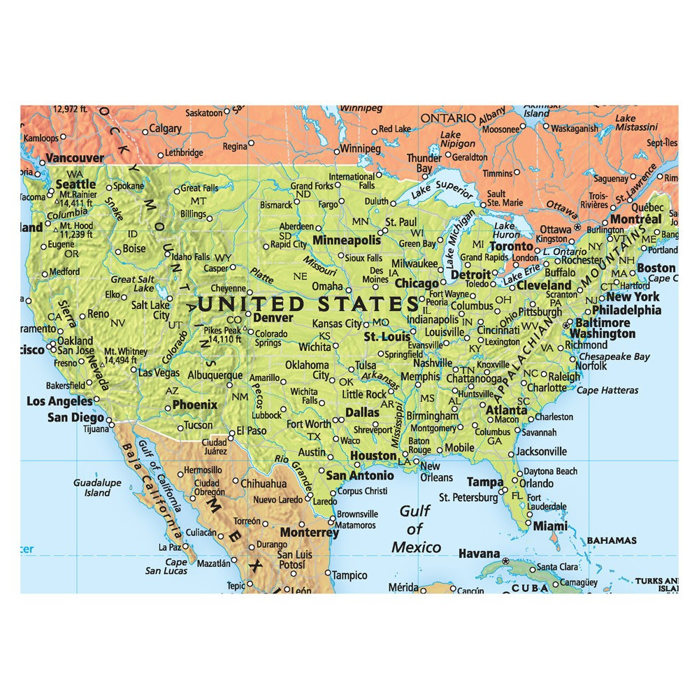 Rand Mcnally Deluxe Signature World Map Wall Poster