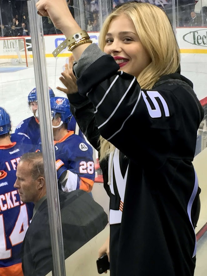 Chloe Moretz at Islanders Game in Brooklyn -01