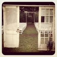 Old door Wedding decor...windows & shutters too...