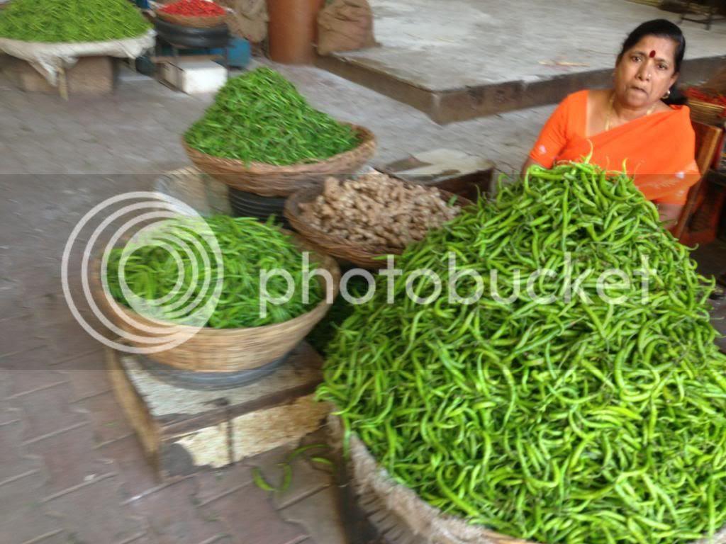 Chillies Laxmi Road Market Pune India