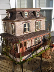 The Lily Victorian Dollhouse (minis on the edge) Tags: stones corona greenleaf dollhousekit minisontheedge creativepaperclay tracytopps customdollhouse minisontheedgecom 1inchscale112thscale