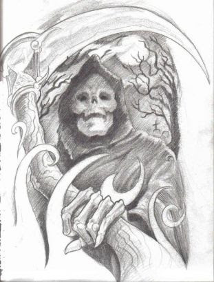 Free Grim Reaper Tattoo Image