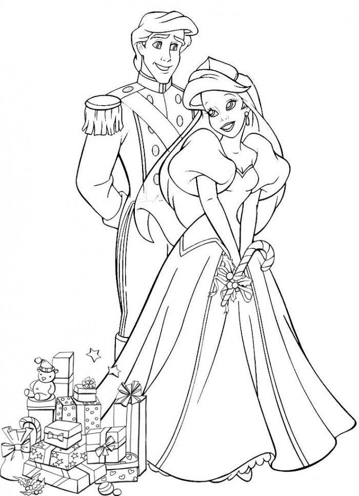 Ariel And Eric Coloring Pages - Coloring Home
