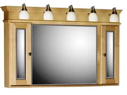 Electricité exterieur: Armoire avec miroir salle de bain