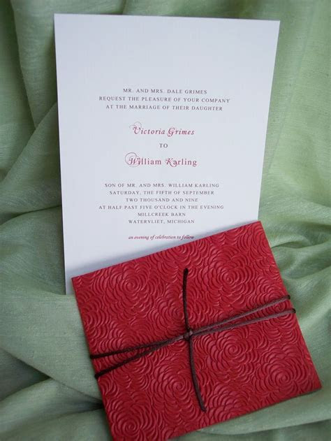 17 Best images about Red roses wedding invitation ideas on