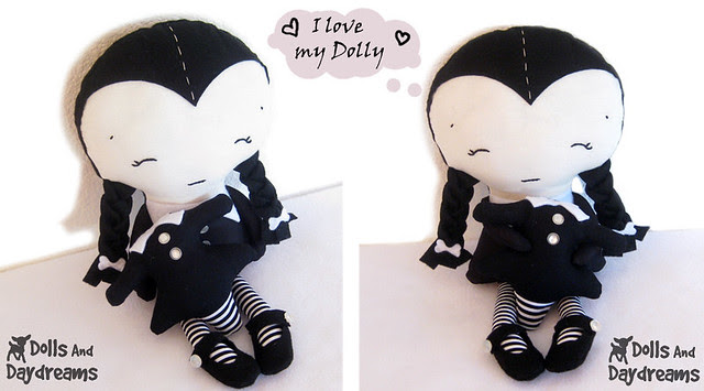 Wednesday Adams and her dolly .....