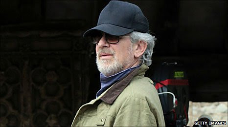 Steven Spielberg pictured during filming of War Horse