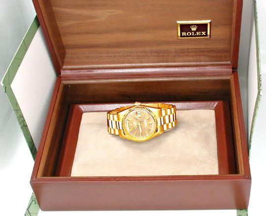Foto 4, Orig.Hr-Rolex-Daydate Gold Topuhr Neuzustand! Portofrei, U1893