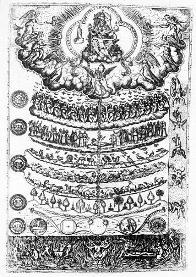 Image:  Italian School - The Great Chain of Being from ''Retorica Christiana'' Didacus Valades, printed in 1579