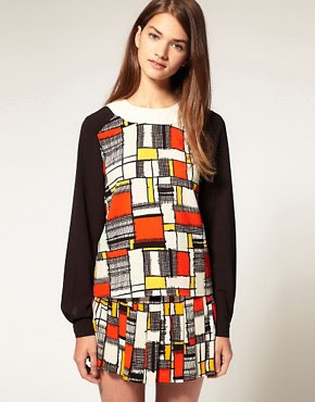Image 1 of ASOS Mondrian Print Top