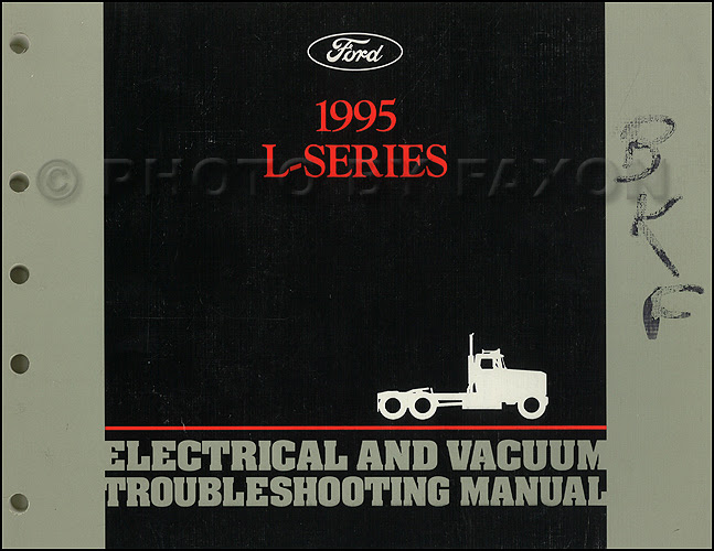 1995 Ford L-Series Foldout Wiring Diagram L8000 L9000 ...