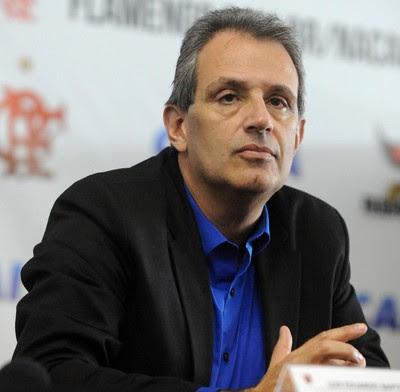 Coletiva Flamengo novo Uniforme Patrocinio Luiz Eduardo Baptista (Foto: Alexandre Vidal/Fla Imagem)