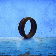 Women's BLACK/THIN BLUE LINE Silicone Wedding Ring