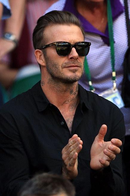 David Beckham Wimbledon Quarter Finals July 6 16 Star Style Man