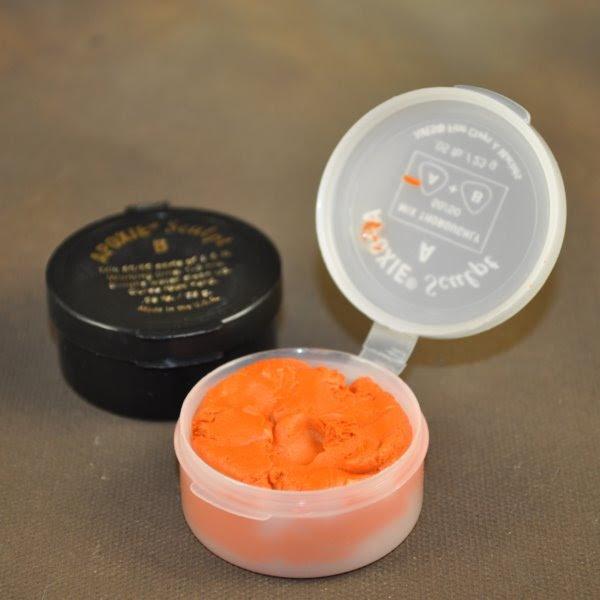 88818990 Two Part Epoxy Clay - [46 grams] Apoxie Sculpt - Orange (Pack)