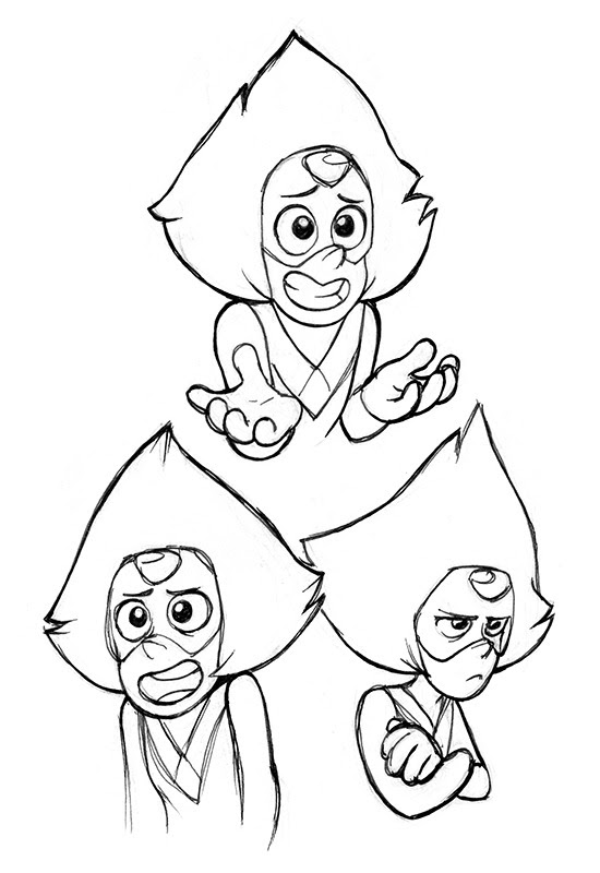 Inktober Day 14 - Peridot I don't know why I like this character who's an obnoxious little shit 90% of the time she's on screen, but for whatever reason I like her quite a lot :P