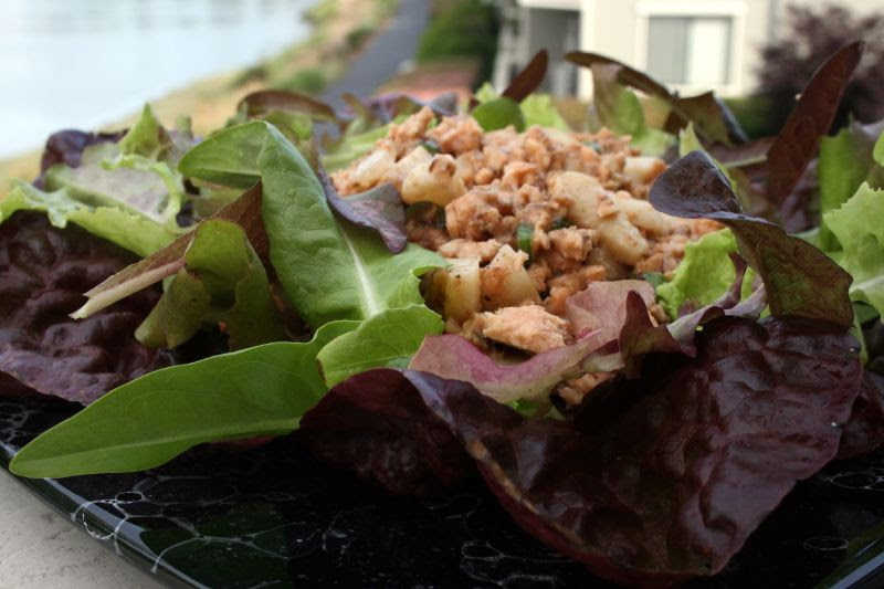 Salmon Water Chestnut Salad