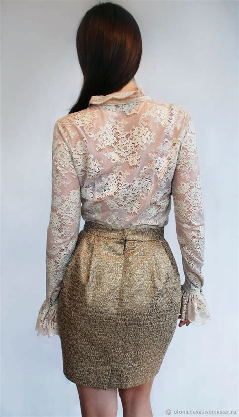 luxurious guipure blouse antique rose  hand