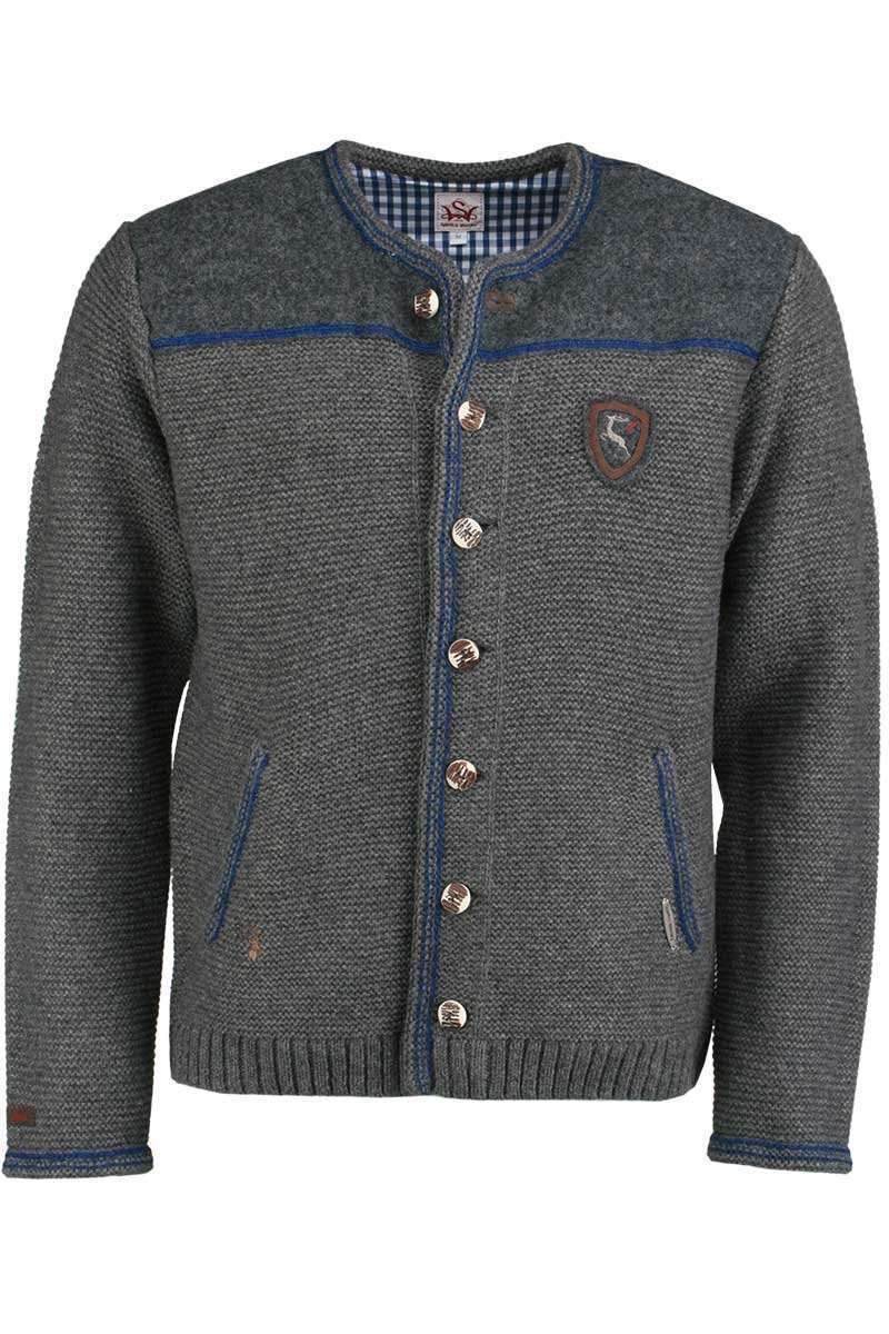 Strickjacke grau-blau - Strickjacken trendig Jacken Herren ...