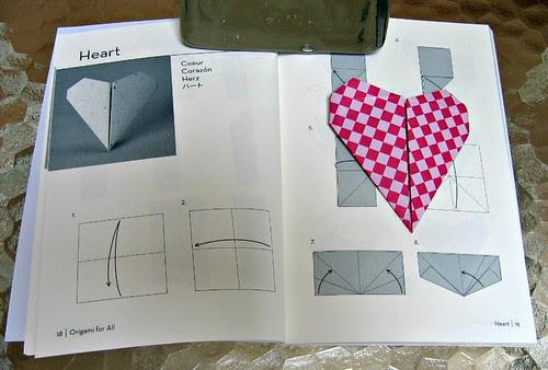 origami heart