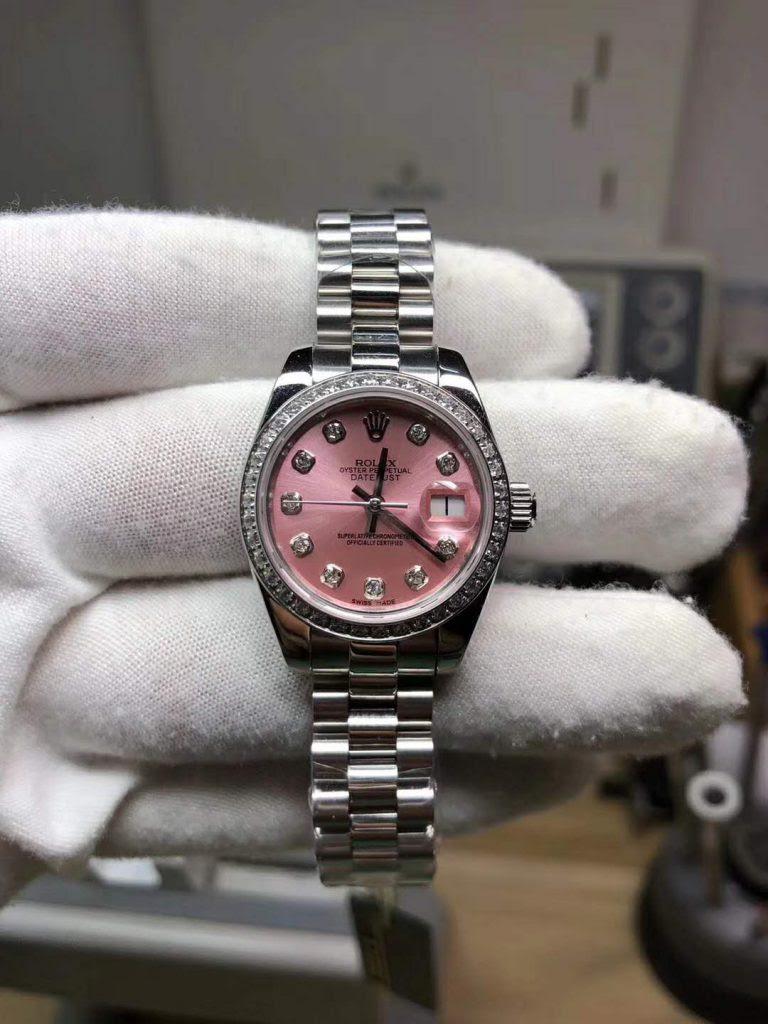 Replica Rolex Datejust Pink Diamond Watch