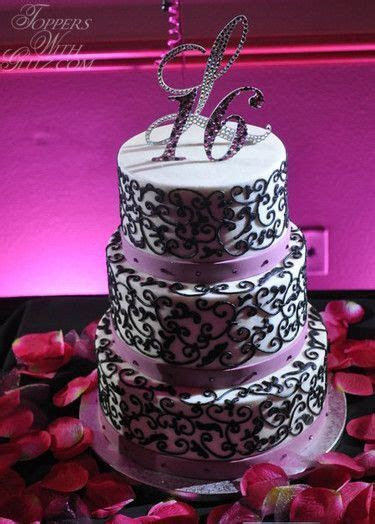 16th Birthday Cake Topper (Toppers With Glitz). Use