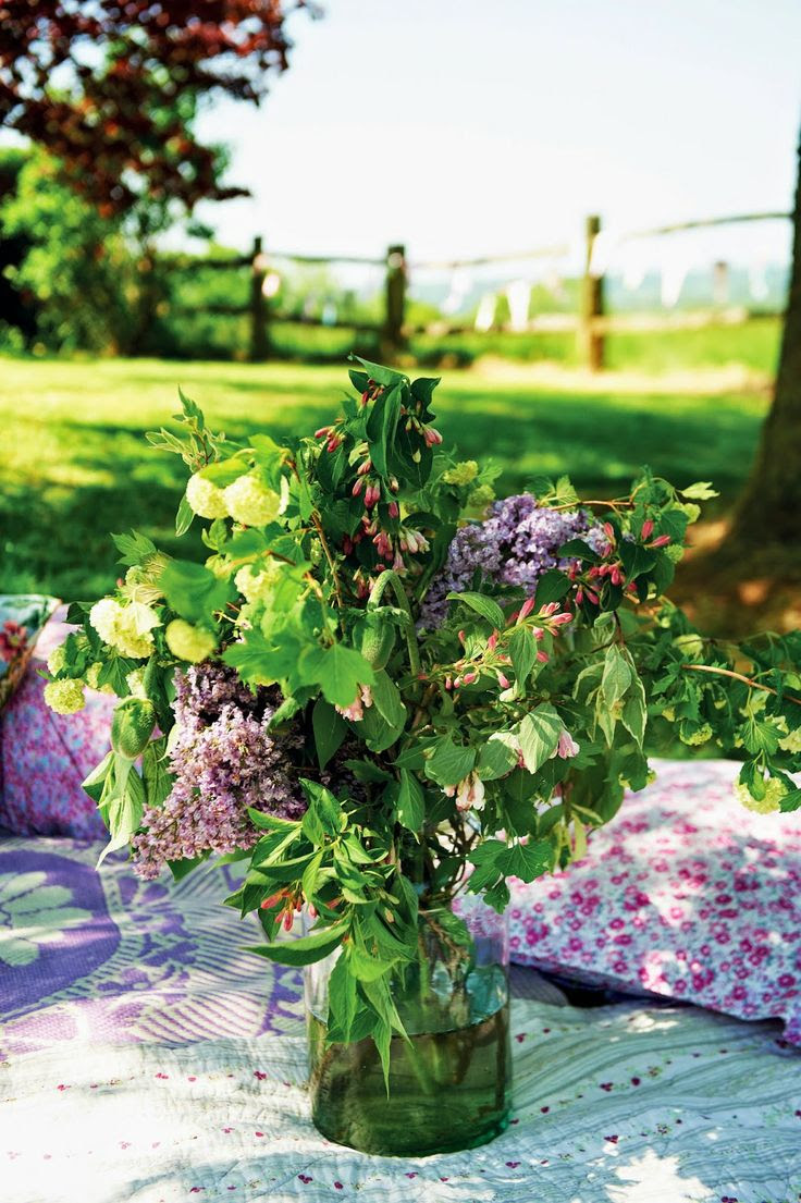 Lilac bouquet...Full details on Modern Country Style blog: Outdoor Living by Selina Lake: Book Review