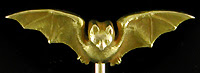 Art Nouveau bat stickpin. (J9470)