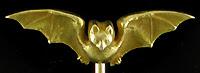 Art Nouveau bat stickpin. (J9470)