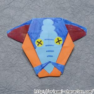 折り紙 妖怪ウォッチモレゾウの折り方 キャラクター折り紙com