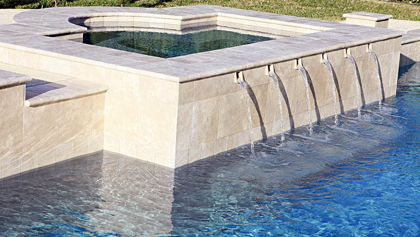 hot tub water fountains
